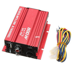 Wholesale Mini Stereo Amps - Freeshipping Mini Hi-Fi Subwoofer Stereo Audio Amplifier Amp Car Motorcycle Boat 2 Channels Wholesale price