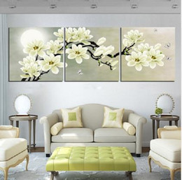 Wholesale Contemporary Pictures - Framed 3PCS Plum blossom,Hand Painted Contemporary Abstract fashion Wall Decor Art Oil Painting On Canvas.Multi sizes,Free Shipping Fl006