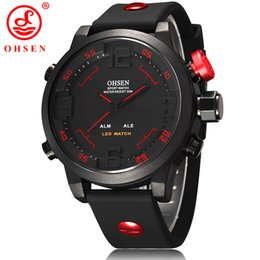 Wholesale Ohsen Led Watch - OHSEN Led Digital Watch Analog Quartz Watch Sports Watches Men Waterproof Relogio Masculino New Fashion Casual wristwatches Wholesale