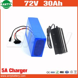 Wholesale E Bicycles - e Bike Rechargeable Battery Pack 72v 30Ah 2800w Built in 50A BMS with 84v 5A Charger Electric Bicycle Battery 72v Free Shipping