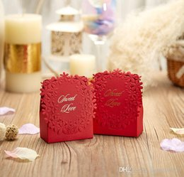 Wholesale Triangle Favour Box - Luxury Candy Boxes Laser Cut Sweet Bag for Wedding Wedding Party Favour Box Party Candy Box as Wedding Souvenir Boda