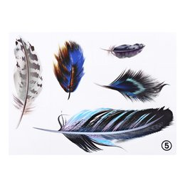 Wholesale Feather Perfect - Universal Car Sticker Feather Styling Reflective Waterproof Cover Decal Decoration Paster Perfect to Personalize Laptops Cars 200665701