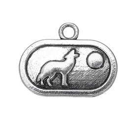 Wholesale Tibetan Silver Moon Charms - Tibetan Silver Plated Howling Wolf at Moon & Donkey & Elephant Animals Charms Zinc Alloy Pendant For Diy Jewelry Making