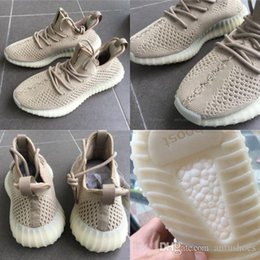 Wholesale Hollow Lace Boots - Original New Sply 350 Boost V2 Running Shoes for Men Women Sneakers Apricot Hollow Kanye West 350 Boots Receipt Sports Shoes