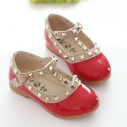 Wholesale Baby Girl Shoes Pair - DHL free shipping Children's Brands Shoes Girl's Spring Casual Shoe Baby girls Summer Flattie Child fashion leather shoes 5 Pairs CK221