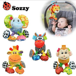 Wholesale Lion Plush - Sozzy Baby Vibrated Plush Animal Lion Toy Rattle Crinkle Sound 18cm Soft Stuffed Multicolor Multifunction Toy