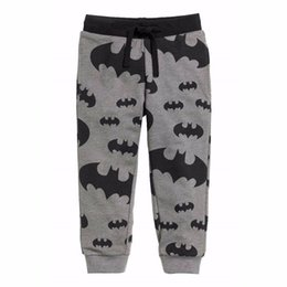 Wholesale Kids Boys Harem Pants - 2017 Kids Spring Autumn Casual Pants Sport Joggers Cool Boys Kids Cartoon Bat Pattern Trousers 2-6T