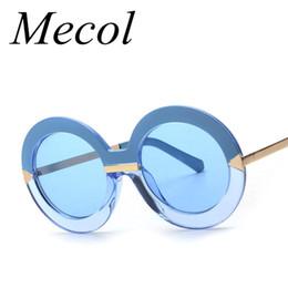 Wholesale Sky Sunglasses - Wholesale-2016 Big Round Sunglasses Women Luxury Arrows SKY BLUE Sunglasses Brand Designer Circle Vintage Retro Sun Glasses Female M284