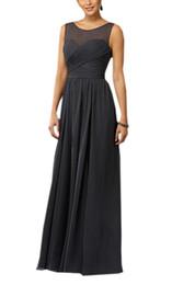 Wholesale Elegant Tulle Round Neck - Formal Prom Dresses Long Ever Pretty Women Elegant Round neck Sleeveless Empire Formal Party Gowns Dresses Black