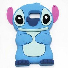 Wholesale Stitch Back Case - 3D Cute Anime Cartoon Stitch For iPhone 7 Plus 6 6S 6Plus Plus 5 5S SE 4 4S Samsung Galaxy S7 S6 Edge Case Silicone Soft Rubber Back Cover