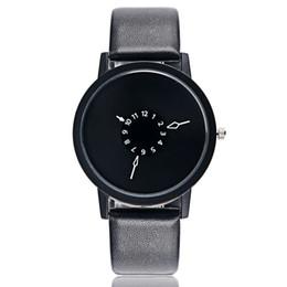 Wholesale Unique Womens Wrist Watches - PAIDU Fashion Cool Unique Design Quartz Wrist Watch Turntable Black Dial Clock Hours Mens Womens Gift Unisex relogio relojes