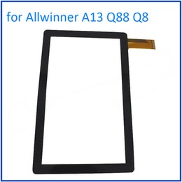 "Wholesale Q8 Allwinner A13 Tablet - Wholesale- ALANGDUO for Allwinner A13 Q88 Q8 7"" Inch Tablet Touch Screen Digitizer Glass Panel Front Sensor Touchscreen Window Replacement"