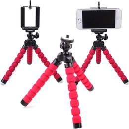 Argentina Soporte para Trípode Flexible Para Teléfono Celular Cámara Del Coche GoPro Universal Mini Pulpo Soporte Esponja Soporte Selfie Monopod Soporte Con Clip Suministro