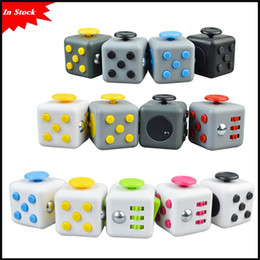 Wholesale First Big - In Stock hot popular 15 Colors Popular Decompression Toy Fidget cube the world's first American decompression anxiety Toys via DHL