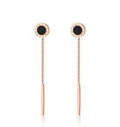 Wholesale Roman Wear - Women Daily Wear Jewelry Rose Gold Roman Numerals Stick Wedding Earring