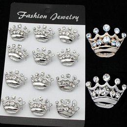 Wholesale Beetle Pin - 18k Golden Plated Mini Lapel Pins Crown Turtle Beetle Brooch Clear Crystal Collar Pins Wedding Bridal Jewelry Women