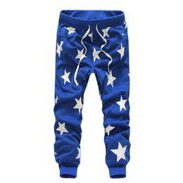 Wholesale Dance Cargo - Casual Pants Men Star Printing Fashion Hiphop Dance Pants Bandana Pants Male Clothing Army Tracksuit Trousers Mens Joggers