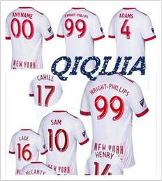 Wholesale Allen Sports - Thai quality 2017-18 Sports New York red soccer Jerseys 17 18 Bull jersey FELIPE GULBRANDSEN KLJESTAN MUYL ALLEN VERON football shirt
