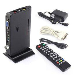 Wholesale External Tv Receiver - External LCD VGA TV PC Box Analog Program Receiver Tuner HDTV 1900*1200