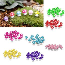 All'ingrosso-10pcs Funghi Terrario Figurine Fairy Garden Miniature Party Garden Mini Fungo Ornamento da giardino Artigianato in resina Decorazioni da