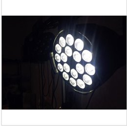 Wholesale Rgbwa Flat Par - 20PCS 18x15W Led Par Light RGBWA 5in1CREE LED Luxury DMX 6 8 Channels Led Flat Par Lights