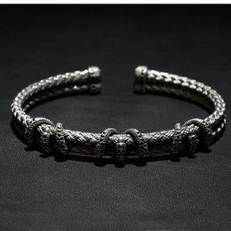 Wholesale Bezel Wire - Beichong atolyestone Stainless Steel Claw Wire Men Black ,rose gold ,gold bracelet Bangle for Gift Fit Watch