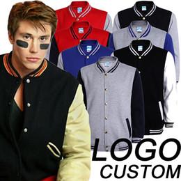 Wholesale Cheap Team Jackets - Colors Cheap College Team Uniform Women Men Baseball Jacket Custom Logo Letterman Coats Plain Blank Varsity Jacket For Couple Lover