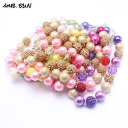 Wholesale Colorful Resin Necklace - MHS.SUN Newest Colorful Fashion Flower Necklace Birthday Party Gift For Toddlers Girls Beaded Bubblegum Baby Kids Chunky Necklace Jewelry