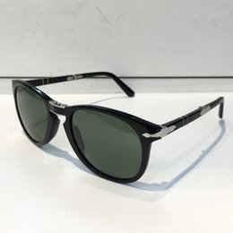 Wholesale Italian Fashion Designer - 714 Sunglasses Luxury Men Popular Pilots Shape Plastic Frame Retro Men Design Glasses Lenses Classic Design Folding Style Italian Designer