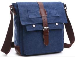 Wholesale Men Flip Phone - Wholesale- Men 's shoulder bag leisure Messenger bag zipper flip solid vertical section canvas bag