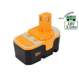 Wholesale Ryobi Lithium 18v - Tools Replacement Battery for Ryobi One Plus P100 P101 18V 3.0Ah Lithium Battery and ABP1801 ABP1803 130224028 130224007 130255004 US stock
