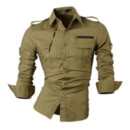 Wholesale Korean Free Style - Free shipping new fashion casual slim fit long-sleeved men's dress shirts korean styles cotton shirt 6 colors choose