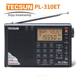 Wholesale Digital Stereo Receivers - Wholesale-World Band TECSUN PL310ET PLL DSP ETM Multiband portable radio receiver. FM Stereo SW MW LW Digital Receiver