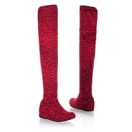 2019 au-dessus des bottes au genou Des souliers pour femmes au-dessus des souliers pour genoux au printemps et en automne des bottes pour genoux sous la tenue des chaussures décontractées. XZ-016 au-dessus des bottes au genou pas cher