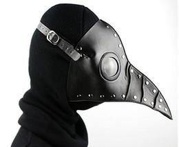 Cuero largo cosplay online-Party Plague Doctor Bird Long Nose Cosplay Fancy Mask Gótico Steampunk Retro Rock Cuero