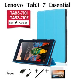 Wholesale Covers For Tablet Computers - Wholesale-For Lenovo TAB3-710F cases TAB3-710i holster Essential 7 inch tablet computer protection shell thin thirty percent support cover