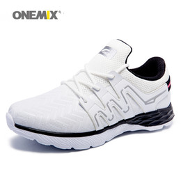 Wholesale Shoes For Fitness - ONEMIX Man Running Shoes For Men Free Run Athletic Trainers Fashion Classic Sports Fitness Shoe 2017 White Outdoor Go Walking Sneakers 44 45