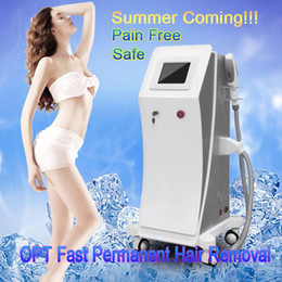 Wholesale Vertical Hair - 2017 Vertical OPT SHR IPL Machine Painfree Permanent IPL Hair Removal Radio IPL Skin Treatment Pigment Acne Therapy Beauty Equipment CE