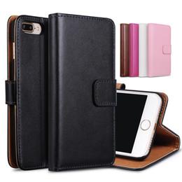 Кожаный чехол i6 онлайн-Для iphone 6 7 plus реальная натуральная кожа бумажник карты стенд телефон чехол для I6 iphone7 5 6 S 6 плюс