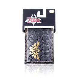 Wholesale Embossed Fold Card - Wholesale- Legend of Zelda Wallet Embossed Printed Bi-fold Men's Wallet zelda pu wallet