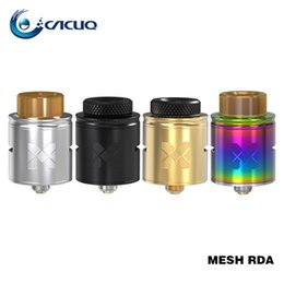 Wholesale Wire Mesh Wholesalers - Vandyvape Mesh RDA Tank Compatible with Mesh Wire & Standard Coil Invisible Clamp Style Postless Deck Atomizer Original 24mm rda vape