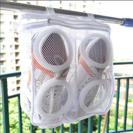 Wholesale Net Wash Bags Wholesale - Shoes Washing Bags Net Wash Washing Cleaner Boot Utility Sneaker Sports Laundry Shoes Hanging Bag Storage Organizer Bags 100pcs OOA2702