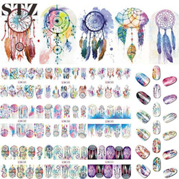 Wholesale Tattoos Images - 12 Designs Nail Art Sticker Set Windmill Fantasy Image Patterns Water Transfer Decals Nail Beauty DIY Tattoos Manicure BN301-312