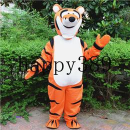2017 traje da mascote tigre tigre traje da mascote apoio direto para o dia das bruxas personalizado privado de Fornecedores de traje tigger