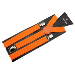 "Wholesale Elastic Suspenders For Women - Wholesale-1"" width elastic Unisex Clip-on Braces for Men and Women Wide Suspenders w  PU leather"