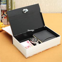 Wholesale Security Dictionary Cash Box - Freeshipping Durable Home Security Dictionary Book Hidden Safe Cash Jewelry Storage Key Lock Box Deco 24.2*15*5.5cm