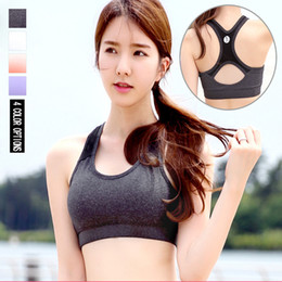 Wholesale trains bra - Free Shipping Yoga Bra Women Training Sexy Push Up Sports Bra Tops Quick Dry Running Vest Gym Female Brassiere Femme Wholesale