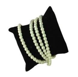 Wholesale Velvet Watch Holder Pillows - HOT Velvet Pillow Cushion Bracelet Watch Jewelry Display Holder Showcase TOP1794