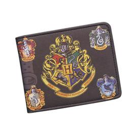 Wholesale Badge Wallets - Harry Potter Wallets With Small Zipper Pocket Purse Men Wallet Coin Bag Credit Card Holder Hogwarts Badge Designer Wallet For Student