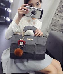 2019 quasten-eimer tasche blau 2017 neue frische stil Pom Poms designer handtaschen dame PU umhängetaschen reißverschluss öffnen Boston Taschen